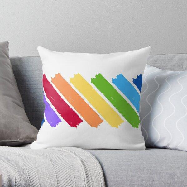 Rainbow Paint Splashes Throw Pillow