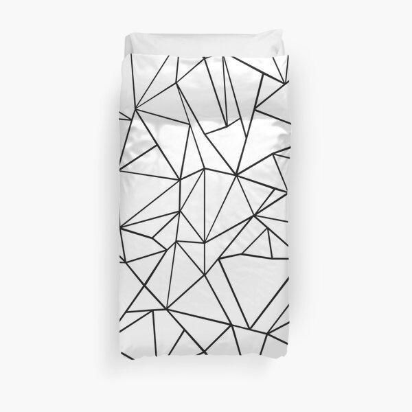 Abstraction Outline Black on White Duvet Cover