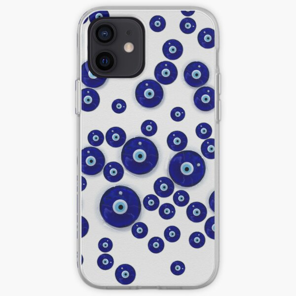 Greek Blue Glass Evil Eye Amulet  iPhone Soft Case