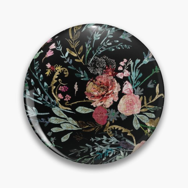 Floral minuit Badge