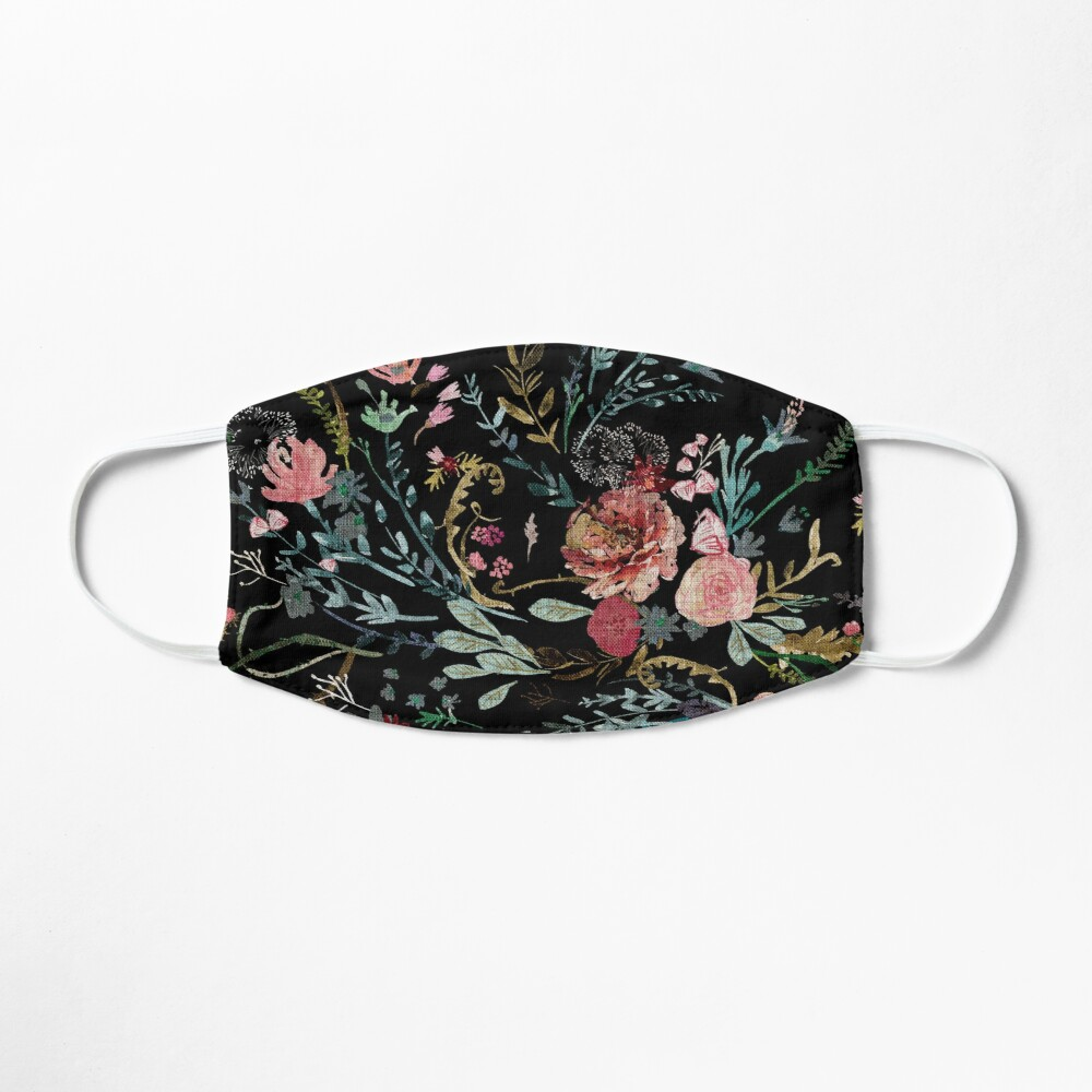 Midnight Floral Mask