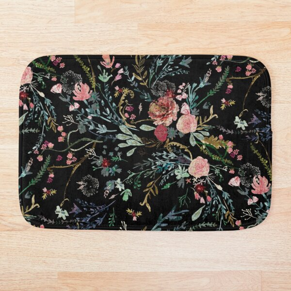 Midnight Floral Bath Mat