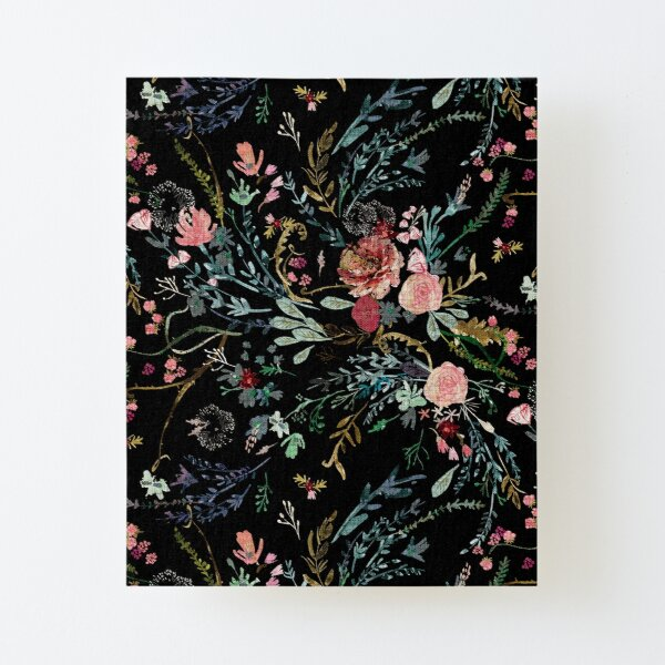 Midnight Floral Canvas Mounted Print