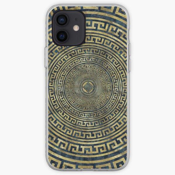 Circular Greek Meander Pattern - Greek Key Ornament iPhone Soft Case