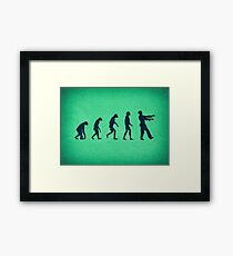 Evolution of Zombies (Zombie Walking Dead) Framed Print