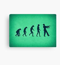 Evolution of Zombies (Zombie Walking Dead) Canvas Print