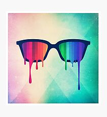 Love Wins! Rainbow - Spectrum (Pride) / Hipster Nerd Glasses Photographic Print