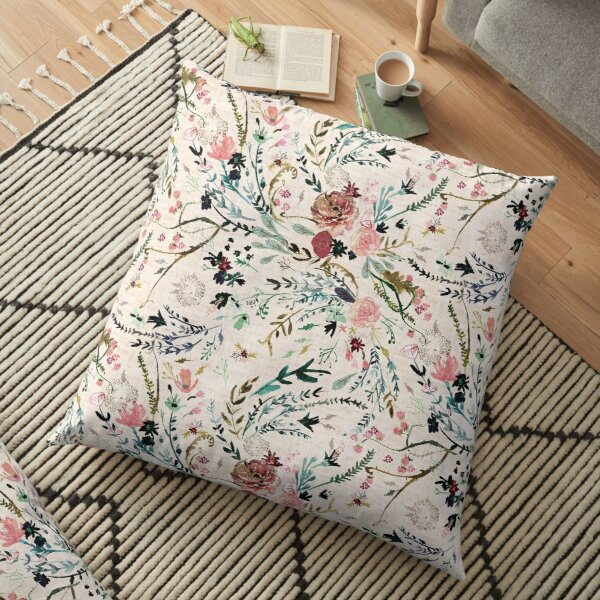 Fable Floral  Floor Pillow