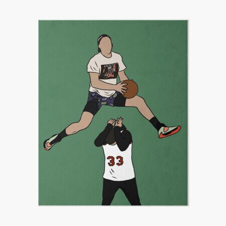 Pat Connaughton Dunk Over Christian Yelich Art Board Print