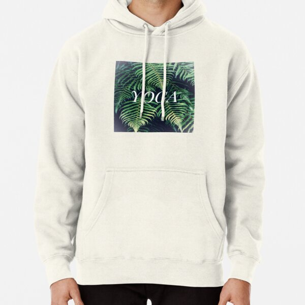 Nature Fern Yoga Design Pullover Hoodie
