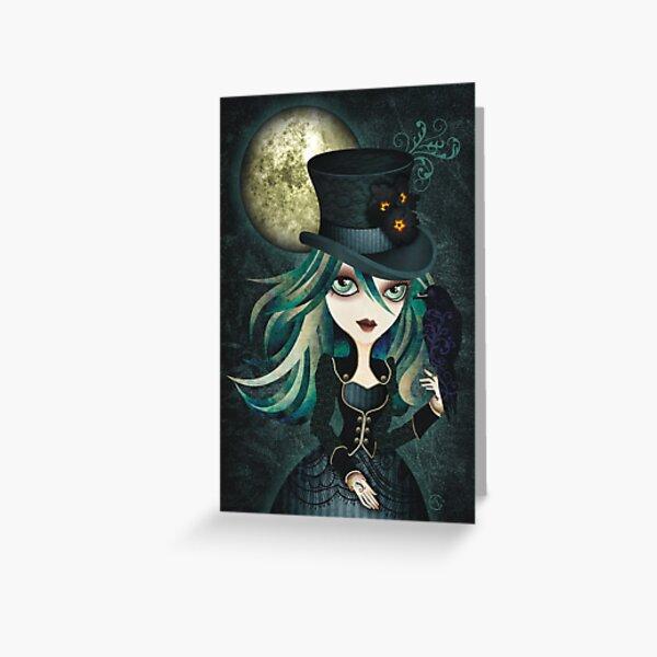 Raven's Moon Greeting Card