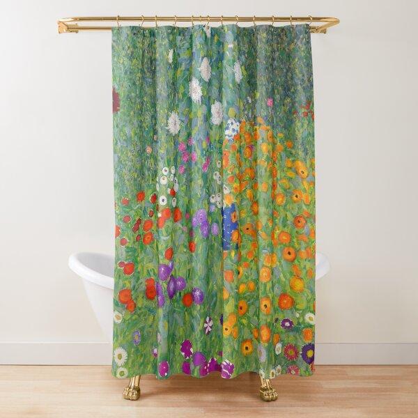 Gustav Klimt Flower Garden Shower Curtain