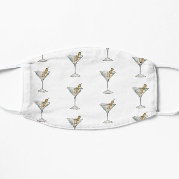 Quarantini Cocktail Martini Pattern  Flat Mask