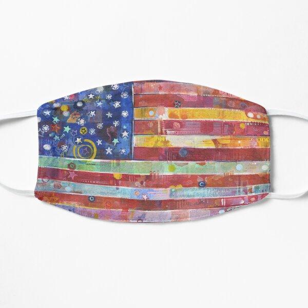 Rainbow American Flag Painting - 2020 Mask