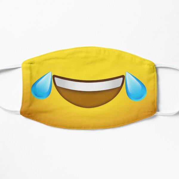 Emoji Face - Riendo Lágrimas Mascarilla plana