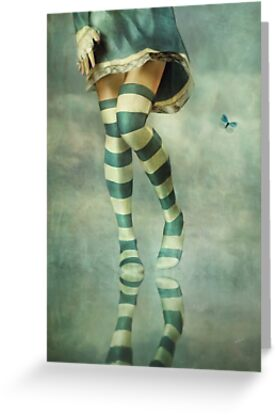 Lovely Girl with Striped Socks by Ana CB Studio