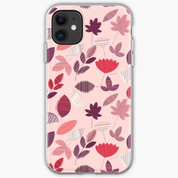 Abstract Pink Floral Pattern  iPhone Soft Case