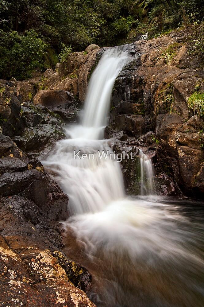 Kaiate upper falls by Ken Wright
