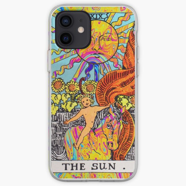 Psychedelic Tarot Card 'The Sun' iPhone Soft Case