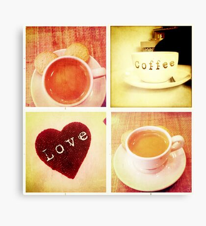 Cambridge Collection: Love Coffee Canvas Print