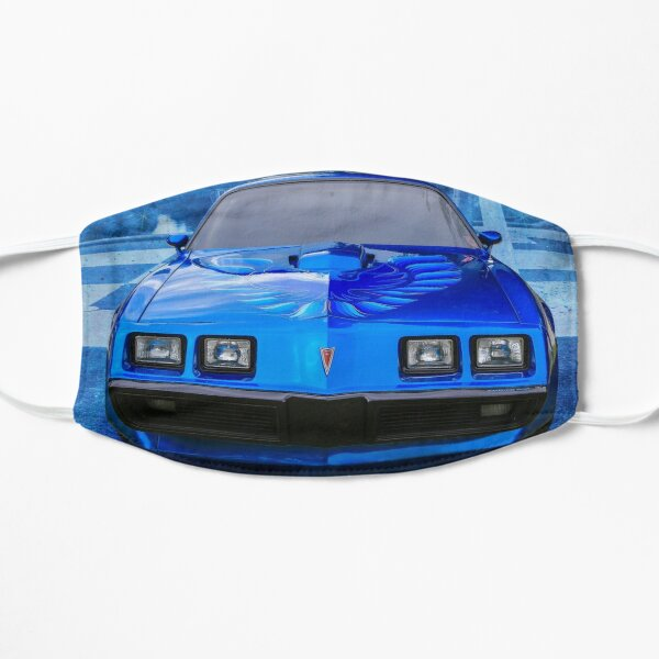 Trans Am in Blue Face Mask Flat Mask