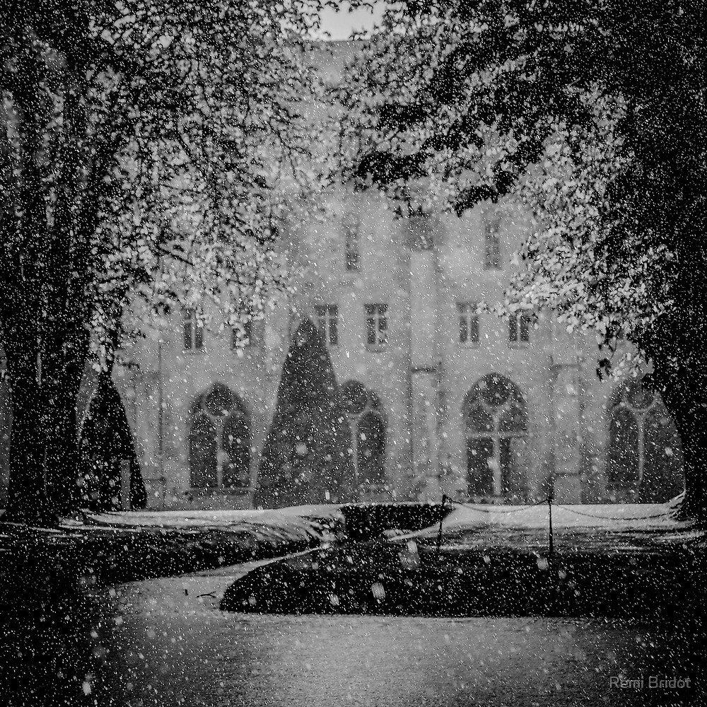 The april rain on the Abbey of Royaumont by Rémi Bridot
