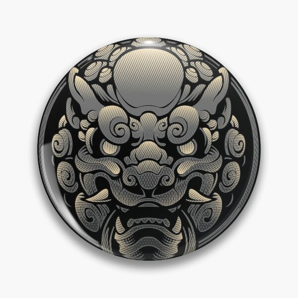 Komainu - the Lion Dog Guardian Pin