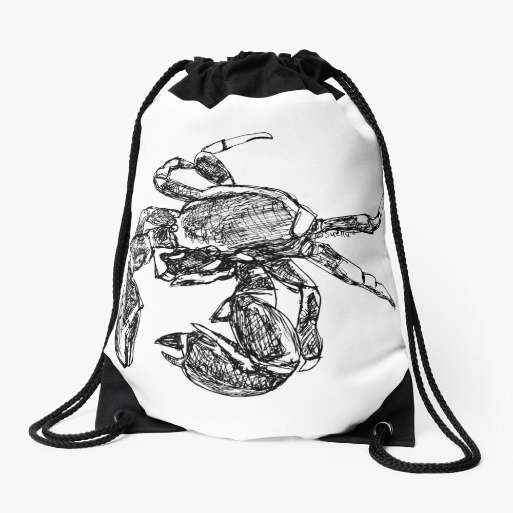Maria the Crab Drawstring Bag