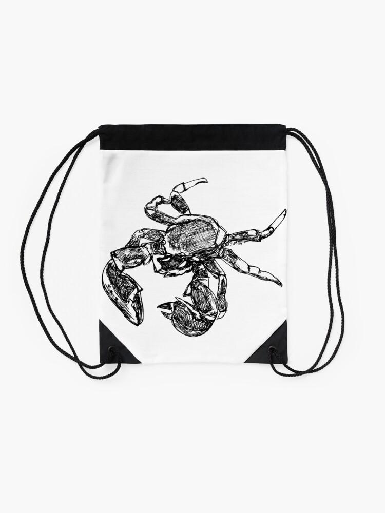 Alternate view of Maria the Crab Drawstring Bag