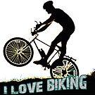 I Love Biking by Mental Itch