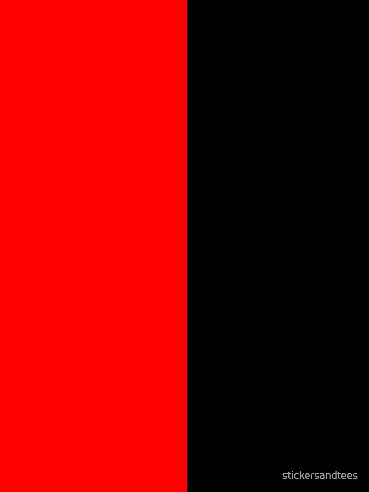 Half Black Half Red Miniskirt by stickersandtees