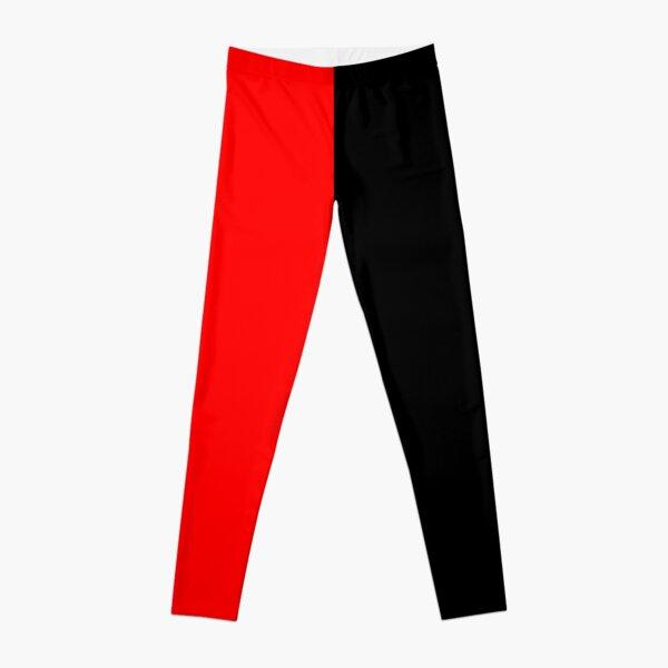 Half Black Half Red Miniskirt Leggings