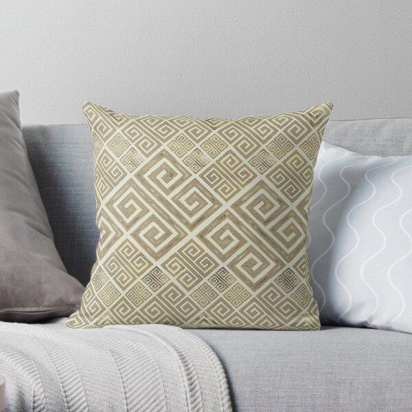 Greek Meander Pattern - Greek Key Ornament Throw Pillow