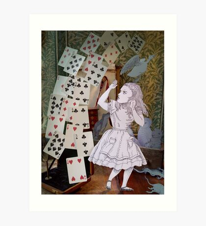 Alice In Wonderland/The Pack of Cards Art Print