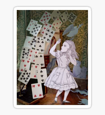 Alice In Wonderland/The Pack of Cards Sticker