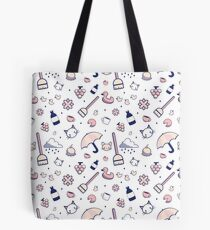 Mad Libs Rainy Day Cat Cafe Tote Bag