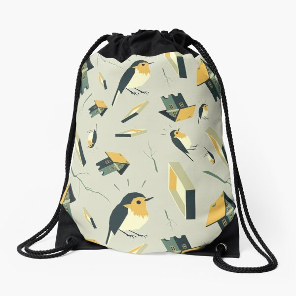 Flying Birdhouse (Pattern) Turnbeutel