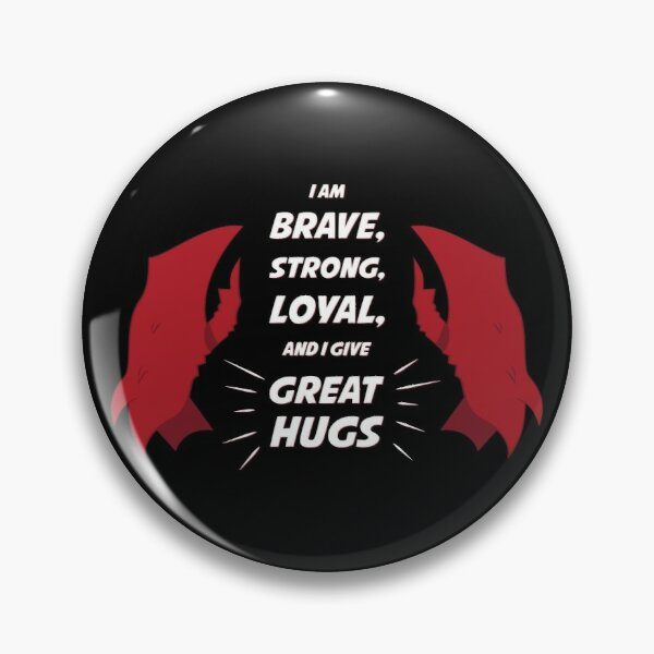 Scorpia: I am BRAVE, STRONG, LOYAL, and I give GREAT HUGS - She Ra and the Princesses of Power Pin