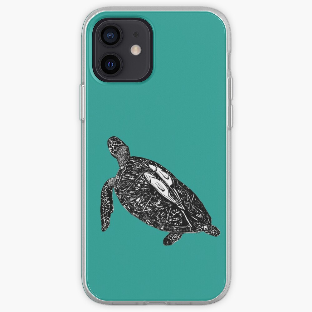 Lucy the Sea Turtle with Remora  iPhone Case & Cover