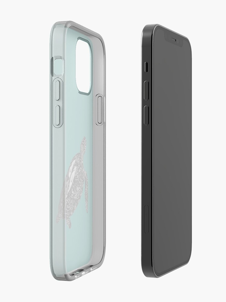 Alternate view of Lucy the Sea Turtle with Remora  iPhone Case & Cover