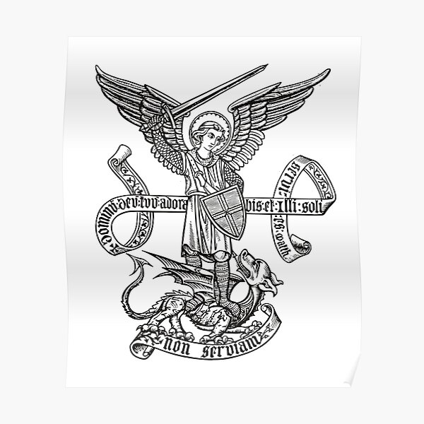 Saint St Michael Catholic Archangel Angel Poster