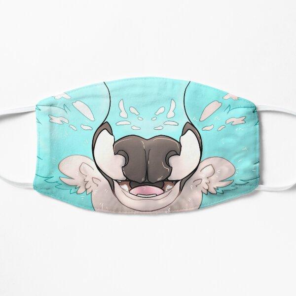 Fluffy Deer Face Mask (Blue) Flat Mask