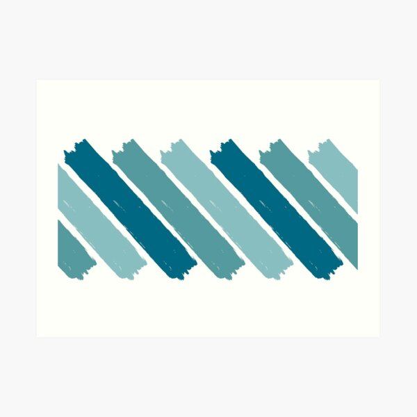 Turquoise Ombre Paint Splashes Art Print