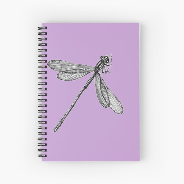 Eve the Dragonfly on the way up Spiral Notebook