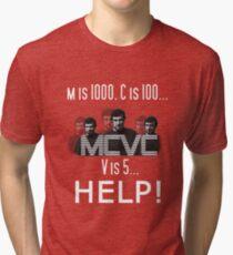 Roman Numerals Tri-blend T-Shirt