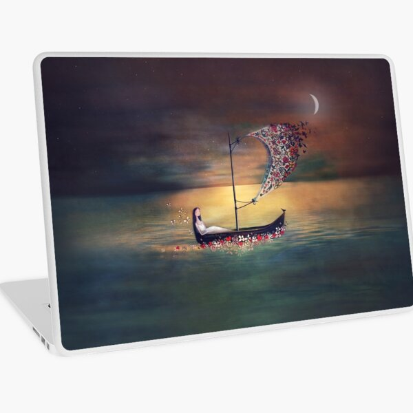 Go with the flow Laptop Skin