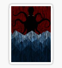 Cthulhu's sea of madness - Red Sticker