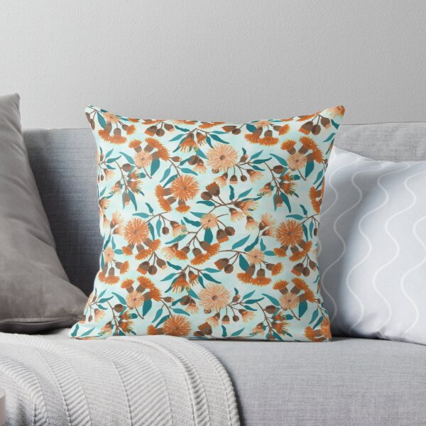 Gum Blossom Eucalyptus flower Throw Pillow