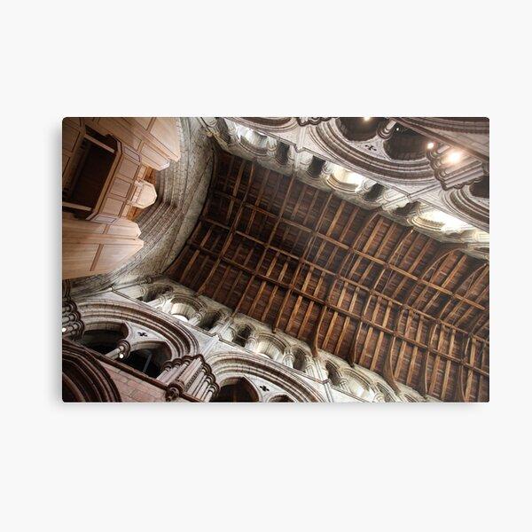 Hexham Abbey Nave Timber Beams Metal Print
