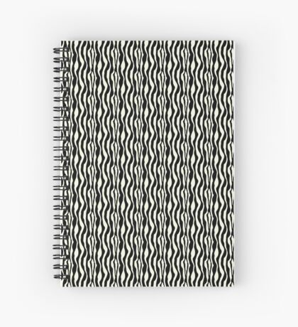 Black and White Zebra Pattern Print Spiral Notebook